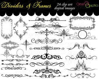 80 Images Swirls Wedding Clipart INSTANT DOWNLOAD Swirl Clip Art.