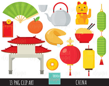 50% SALE CHINA clipart, digital clipart, commercial use.
