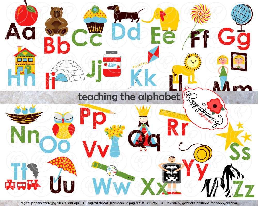 Alphabet Clipart For Teachers.