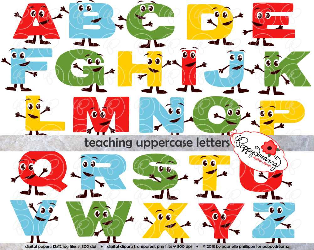 Alphabet Clipart For Teachers.