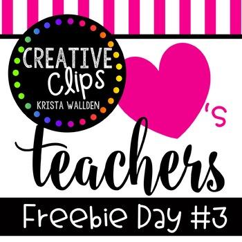 Teacher Appreciation Freebie #3 {Creative Clips Digital Clipart}.