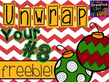 Unwrap your FREEBIE Number 8 {Creative Clips Digital Clipart}.