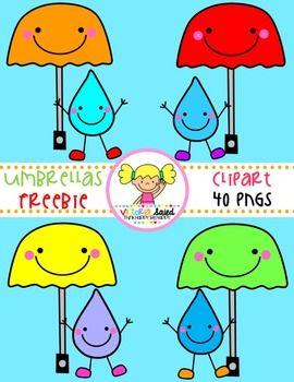Umbrella Clipart Freebie.