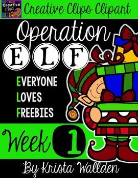 Operation E.L.F Freebie #1 {Creative Clips Digital Clipart}.