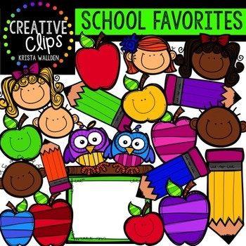 HUGE FREEBIE! School Favorites {Creative Clips Digital.