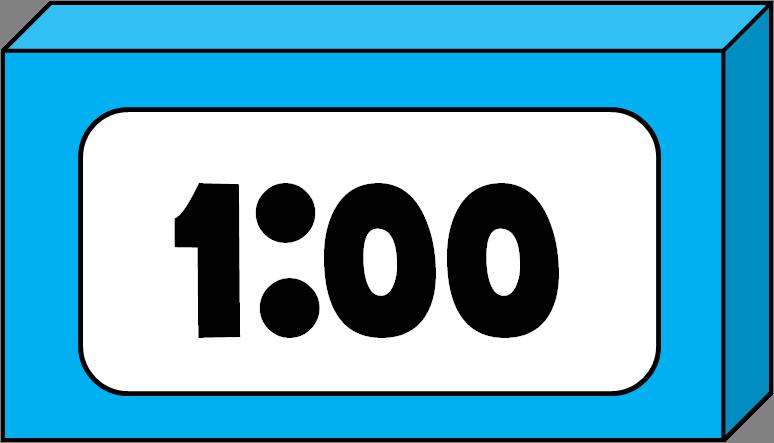 Digital Clock Clipart.