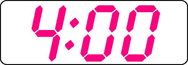 Digital clock face clip art.