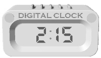 Free Clip Art of Digital Clocks and Time.