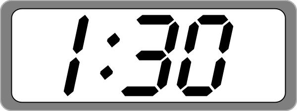 Blank Digital Clock Clipart.