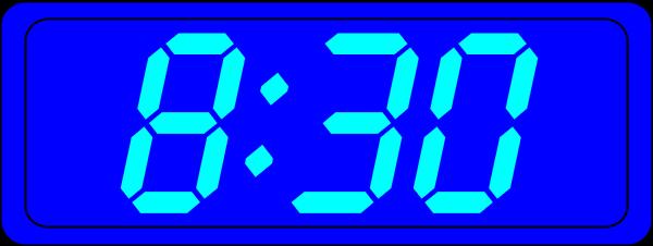 Clipart digital alarm clock.