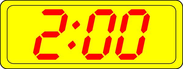 Digital Clock 2:00 Clip Art at Clker.com.