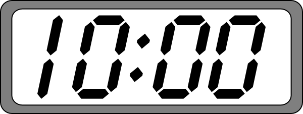 Digital clock face clip art.