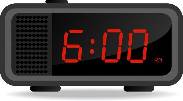 Clipart digital clock.