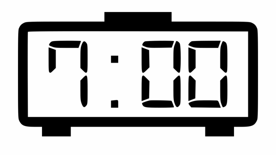 digital clock clipart black and white 19 free Cliparts ...