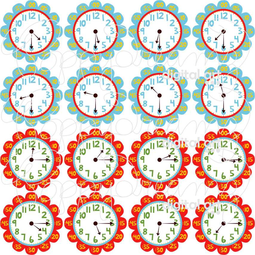 digital clock clipart for teachers