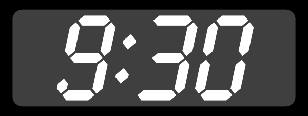 Digital Clock Clipart#2225065.