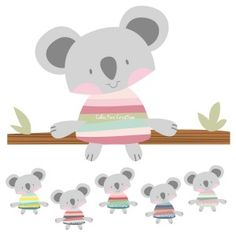 Mouse Family Digital Clip Art Clipart Set.
