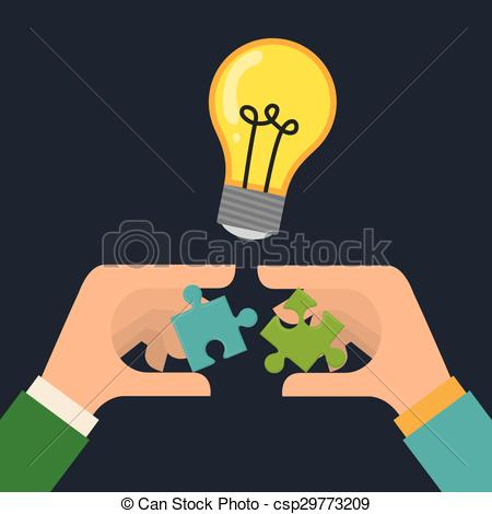 Vector Clipart of Solution design.