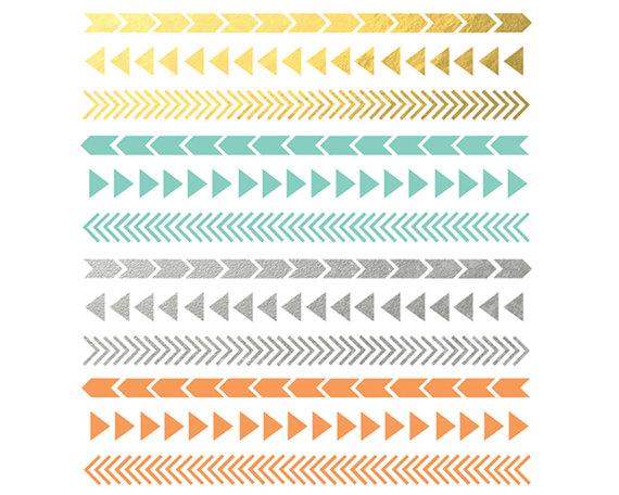 Sale 60% off, Sienna Arrow Border, Digital Design, Digital Clipart.