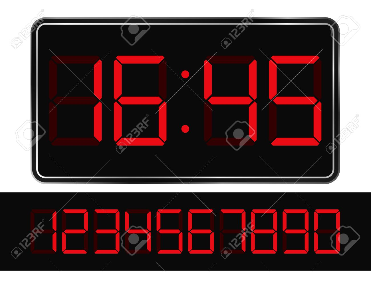 9,960 Time Display Stock Vector Illustration And Royalty Free Time.