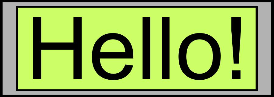 Digital Display with HELLO Clipart, vector clip art online.