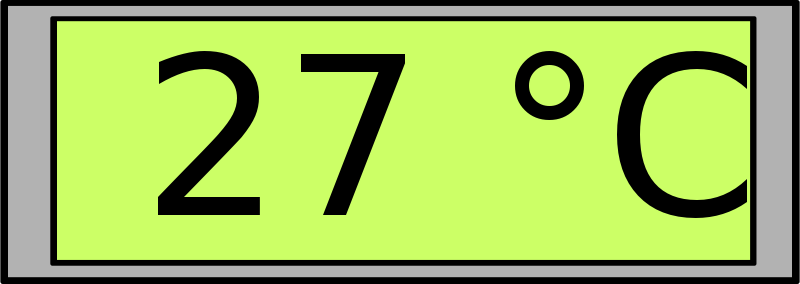 Free Clipart: Digital Display with Temperature.