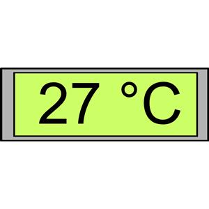 Digital Display with Temperature 27°C clipart, cliparts of Digital.