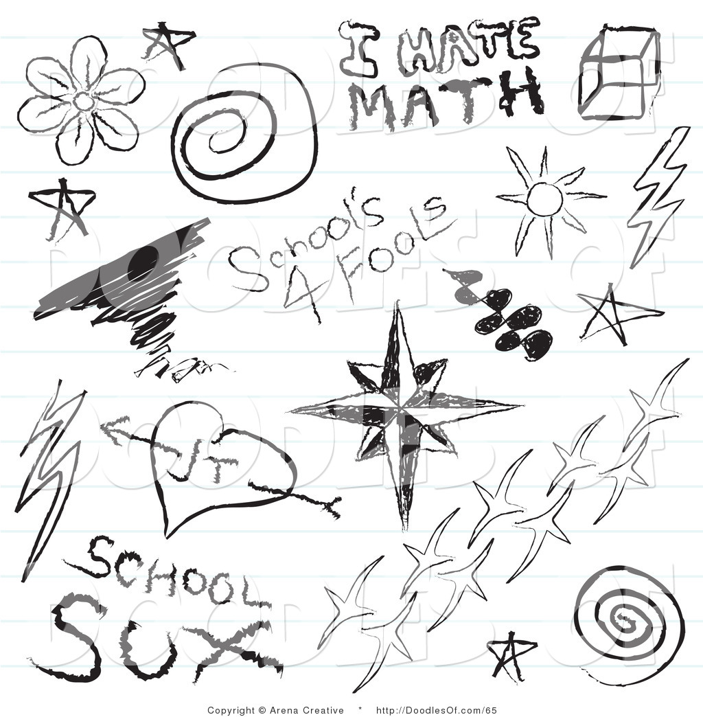 Vector Clipart of a Digital Collage of Notebook Pupil.