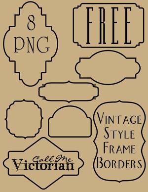 Vintage Frame Border Clipart.