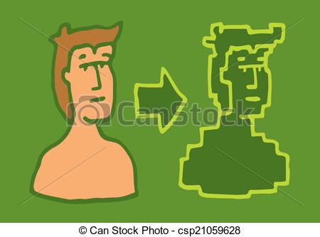 Vector Illustration of Converting into digital identity.