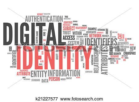 Stock Illustration of Word Cloud Digital Identity k21227577.
