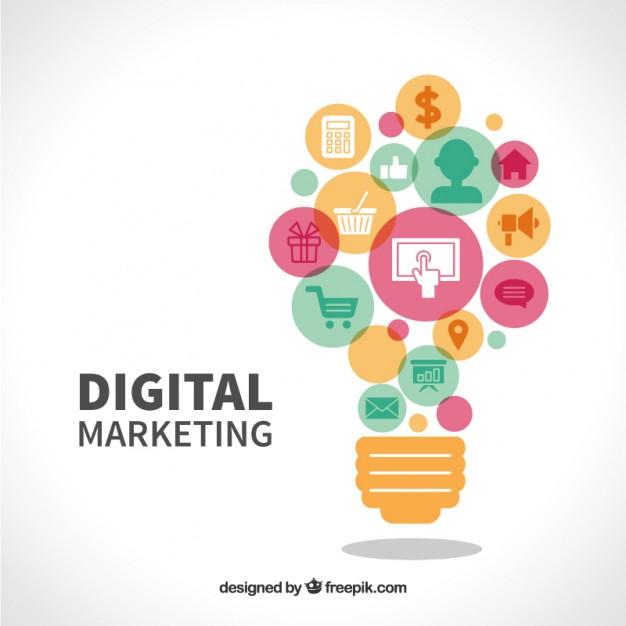 Digital marketing Vector.