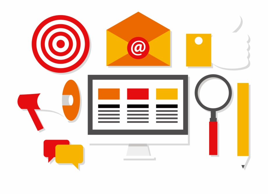 Digital Marketing Social Media Euclidean Vector.