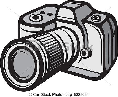 Vector of Compact digital camera (digital photo camera.