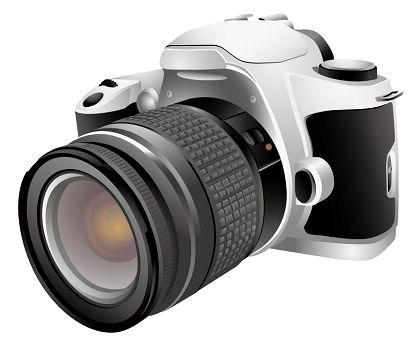Digital Camera Mascot Clip Art, Vector Digital Camera Mascot.