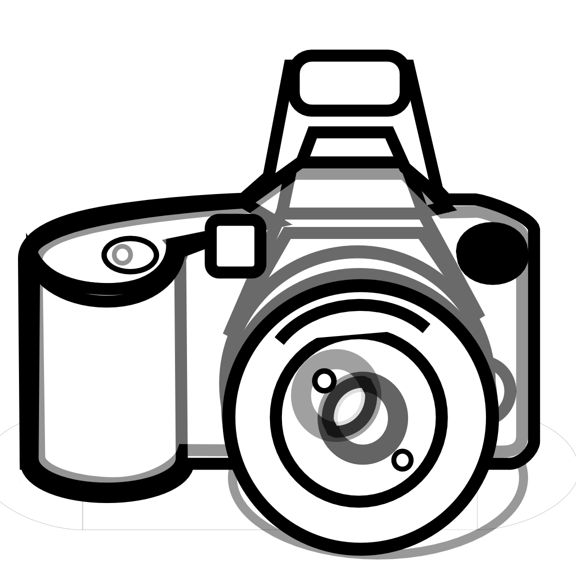 Digital Camera Clipart Black And White.
