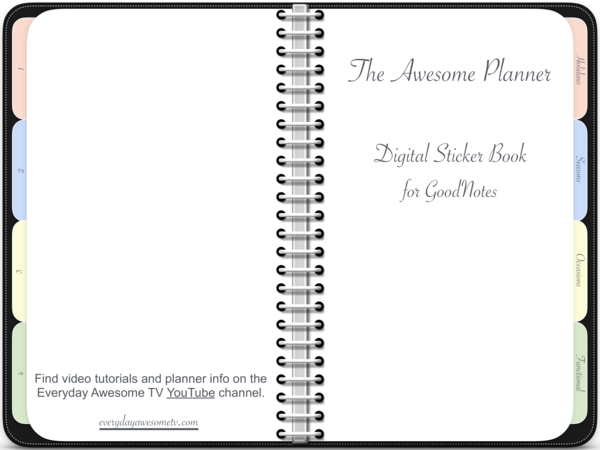 Digital Sticker Book for GoodNotes.