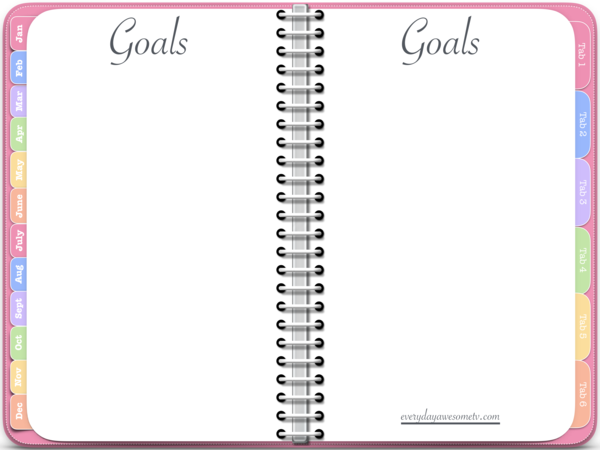Vertical Awesome Planner in Pink (Undated Version).