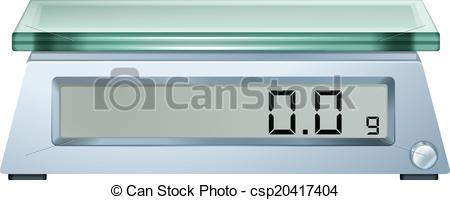 Digital Scale Clip Art.