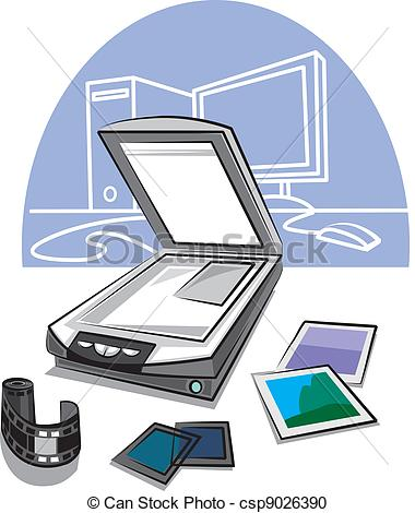 Vector Clipart of scanner.