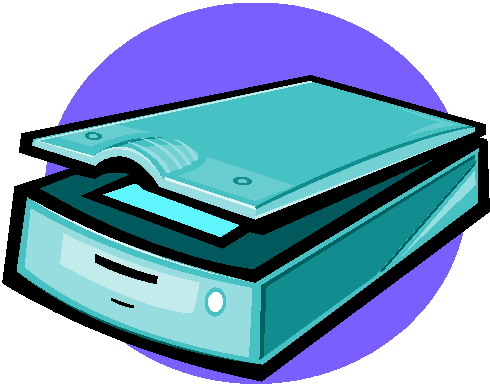 Clip art pictures of scanners.