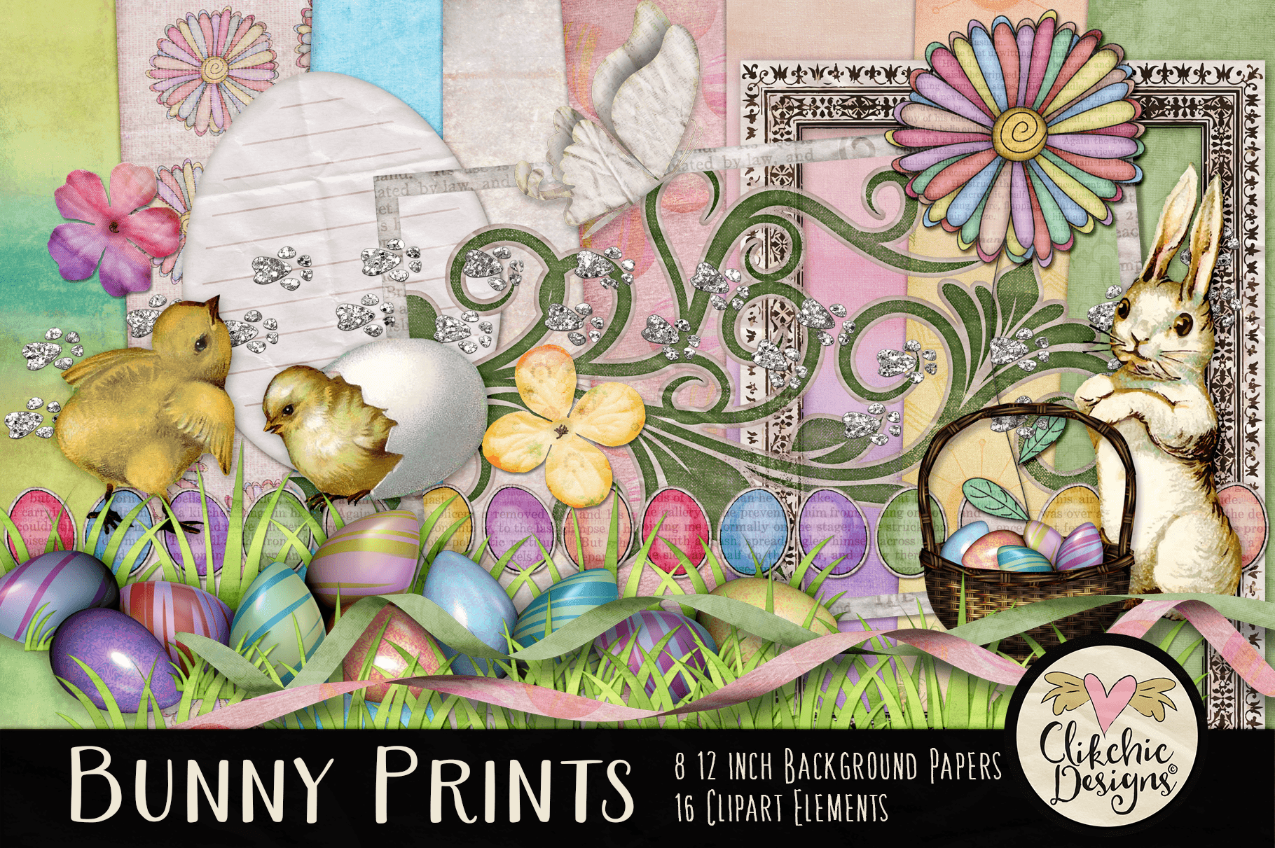 Easter Digital Scrapbook Kit.