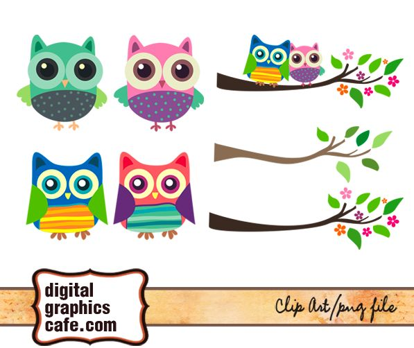 Free Graphics Owl clip art for scrapbooking, cardmaking.