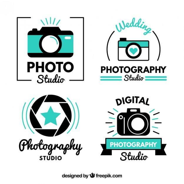 Modern cute photo studio logos Vector.