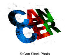 Cancer treatment medical concept on grey background Illustrations.
