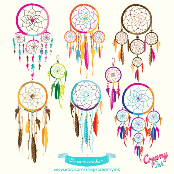 Dreamcatcher Digital Vector Clip art/ Tribal Boho Digital.