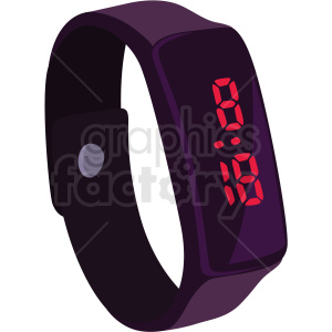 vector digital watch no background clipart. Royalty.