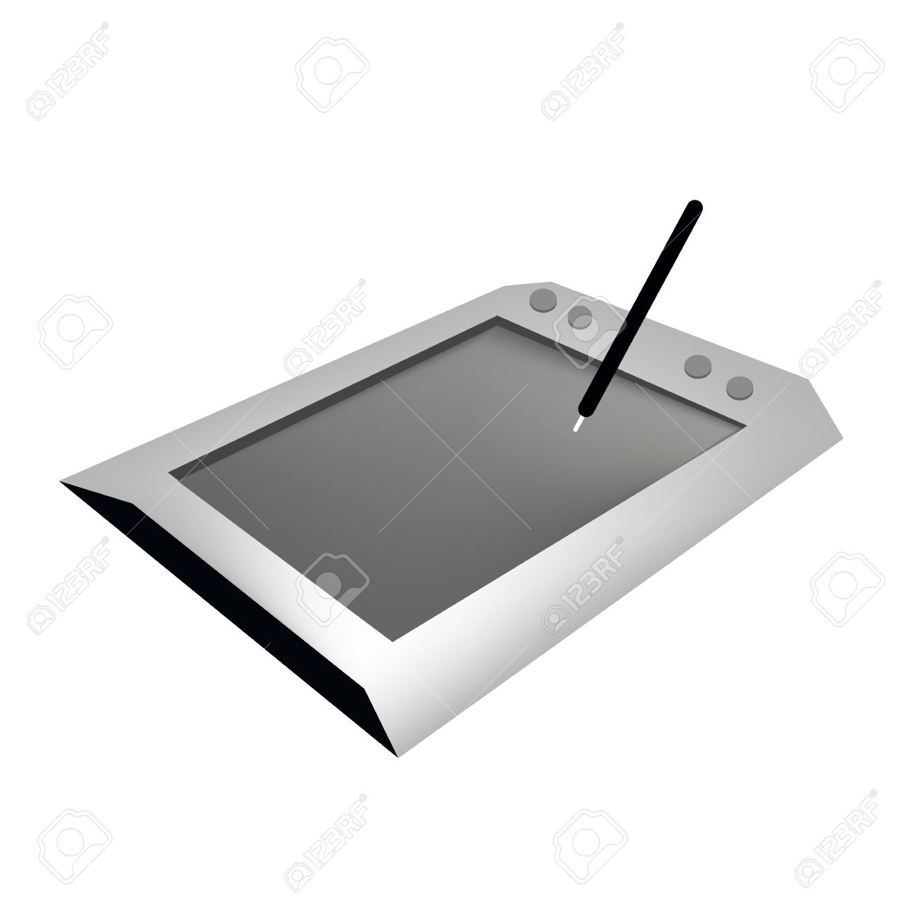 Computer And Technology, Professional Graphics Tablet Or Digitizer.