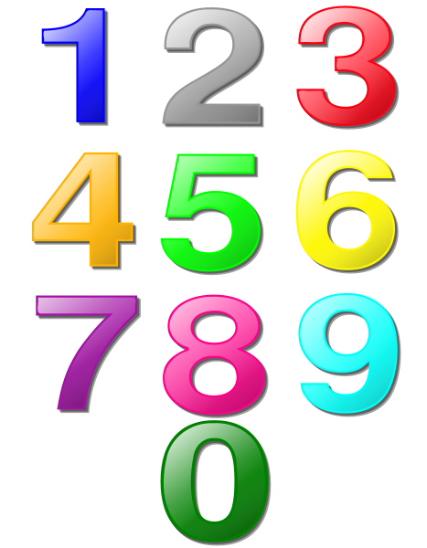 Game Marbles Digits SVG Vector file, vector clip art svg file.