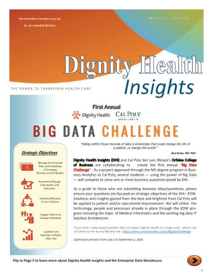 Dignity Health Insights July Newsletter.